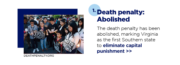 1. Death penalty: Abolished