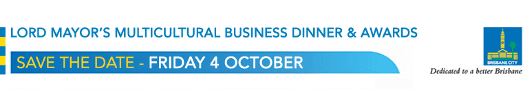 Lord Mayor's Multicultural Business Program Dinner and Awards - Save the date - Friday 4 October