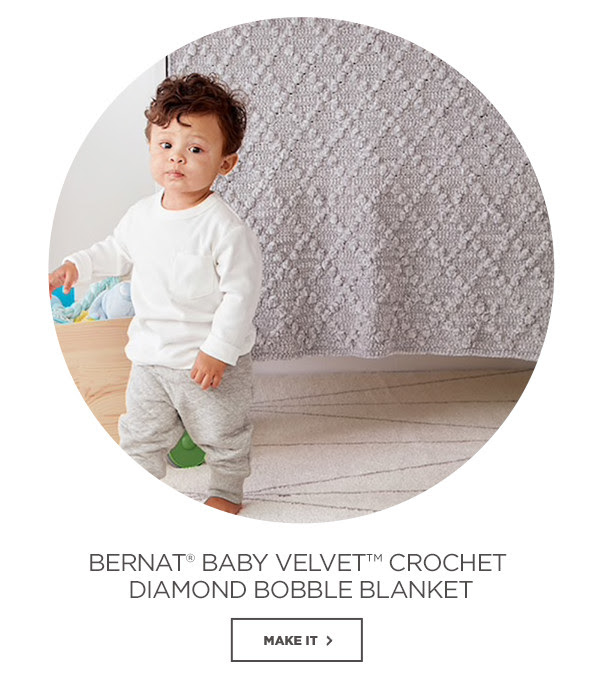 Bernat® Baby Velevt™ Crochet Diamond Bobble Blanket