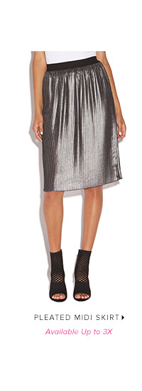 Shop PLEATED MIDI SKIRT