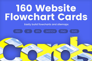 160 Website Flowchart Cards