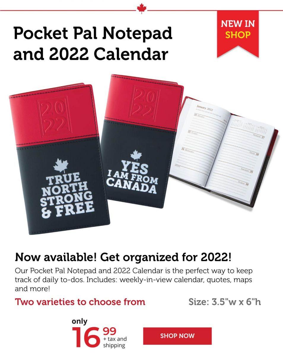 Pocket Pal Notepad and 2022 Calendar