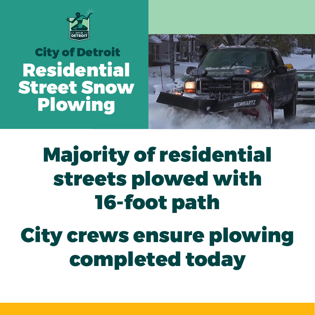Residential Snow Plowing Almost Completed 2.17.21