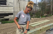 AmeriCorps member Olivia Padilla serves with Habitat For Humanity after growing up in a Habitat house.