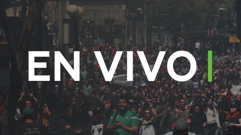 EN VIVO: Nueva jornada de protestas en las calles de Santiago de Chile contra el Gobierno de Piñera