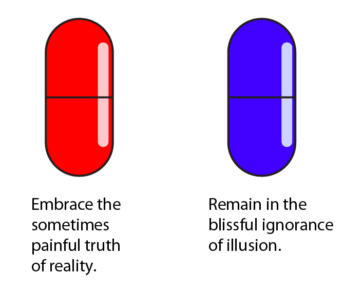 red pill blue pill explained