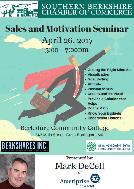 Sales and Motivation Seminar @ Berkshire Community College - South Campus | Great Barrington | Massachusetts | United States