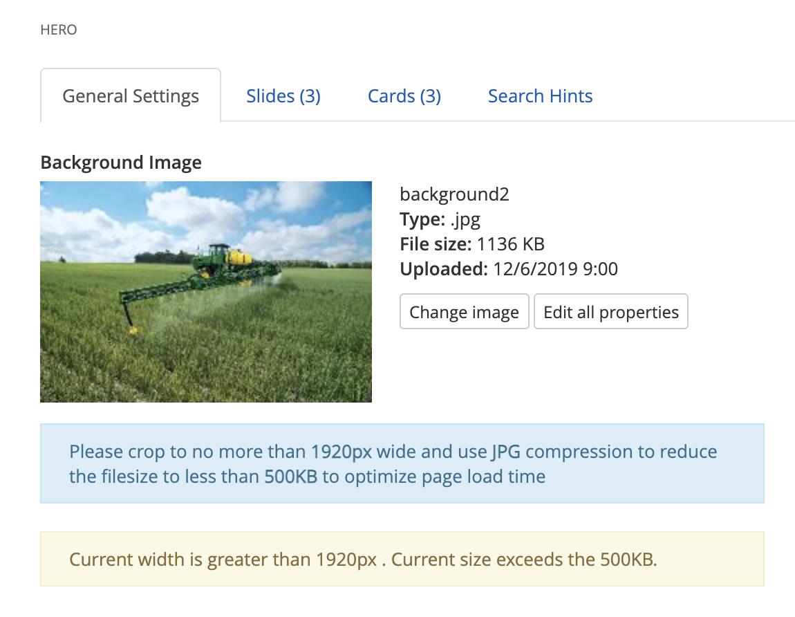 Hero Background Image Instructions