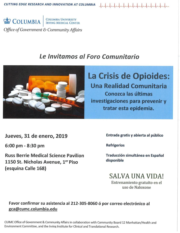 Opioids Spanish