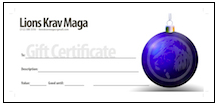 LIONS krav maga gift certificate shopping