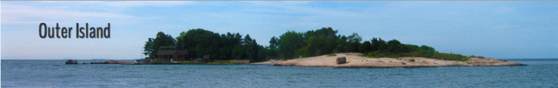 An image of Outer Island at the center for SCSU marine research.