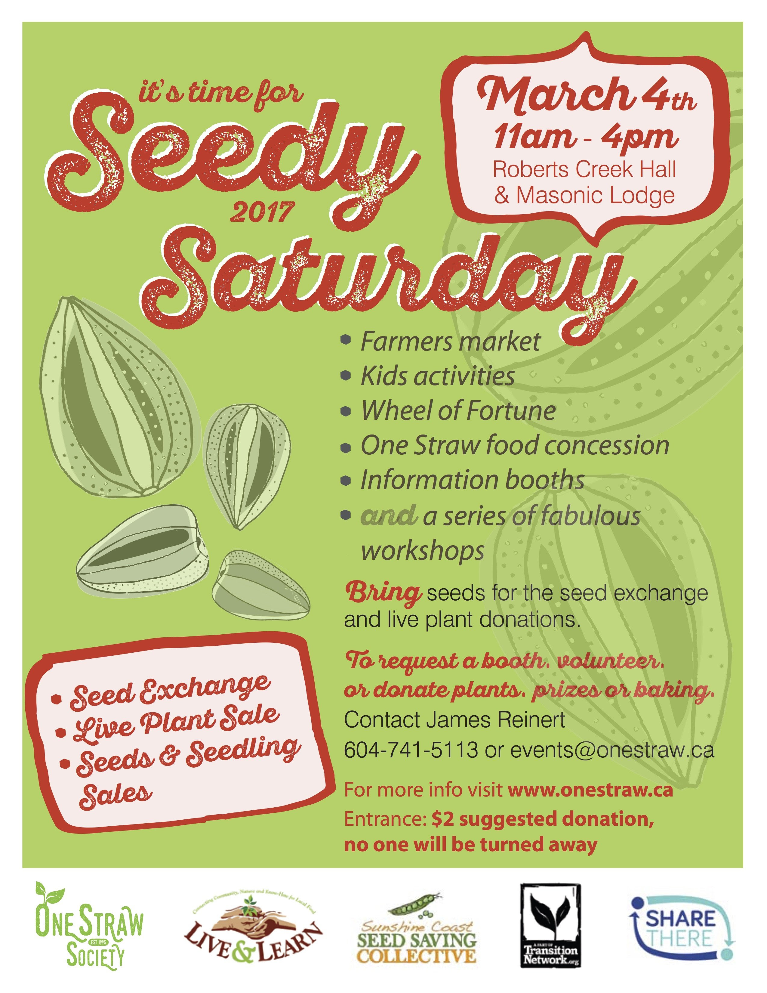 Seedy Saturday @ Roberts Creek Community Hall and Masonic Hall