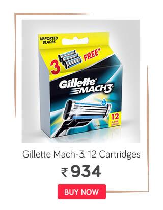 Gillette Mach-3 12 Cartridges