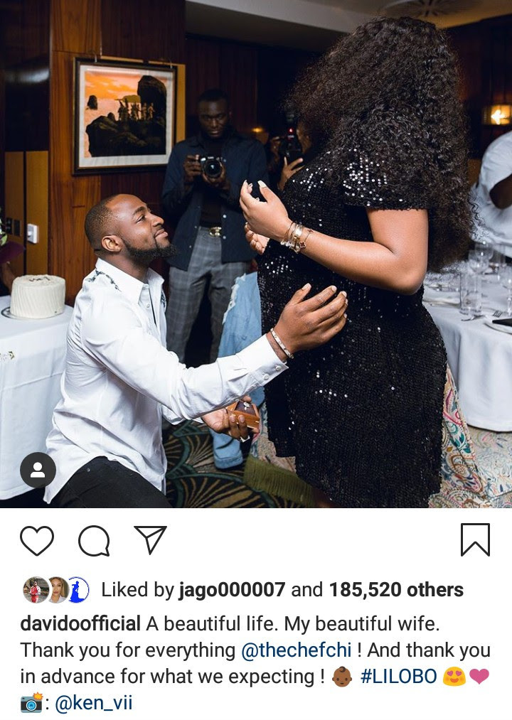 """A beautiful life. My beautiful wife"" Davido says as he thanks Chioma for ""everything"""