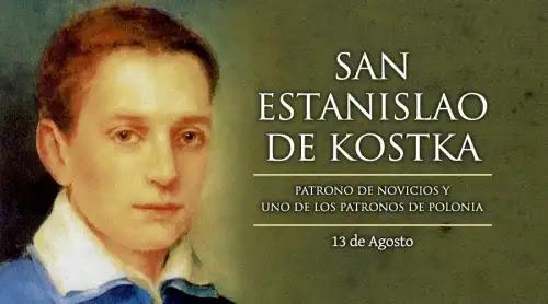 Hoy es la fiesta del mártir San Estanislao Kostka, patrono de novicios y de Polonia