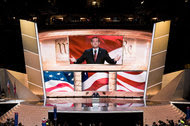 Senator Ted Cruz speaking at the Republican National Convention in Cleveland on July 20.