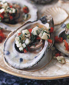 Oysters with Apple Mignonnette recipe