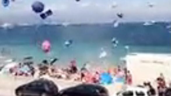 VIDEO. Un tourbillon de poussière provoque un vent de panique sur une plage d'Antibes