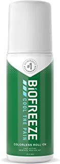 Biofreeze Pain Relief Roll-On, 3 oz. Colorless Roll-On, Fast Acting, Long Lasting, & Powerful Topical Pain Reliever (Packa...