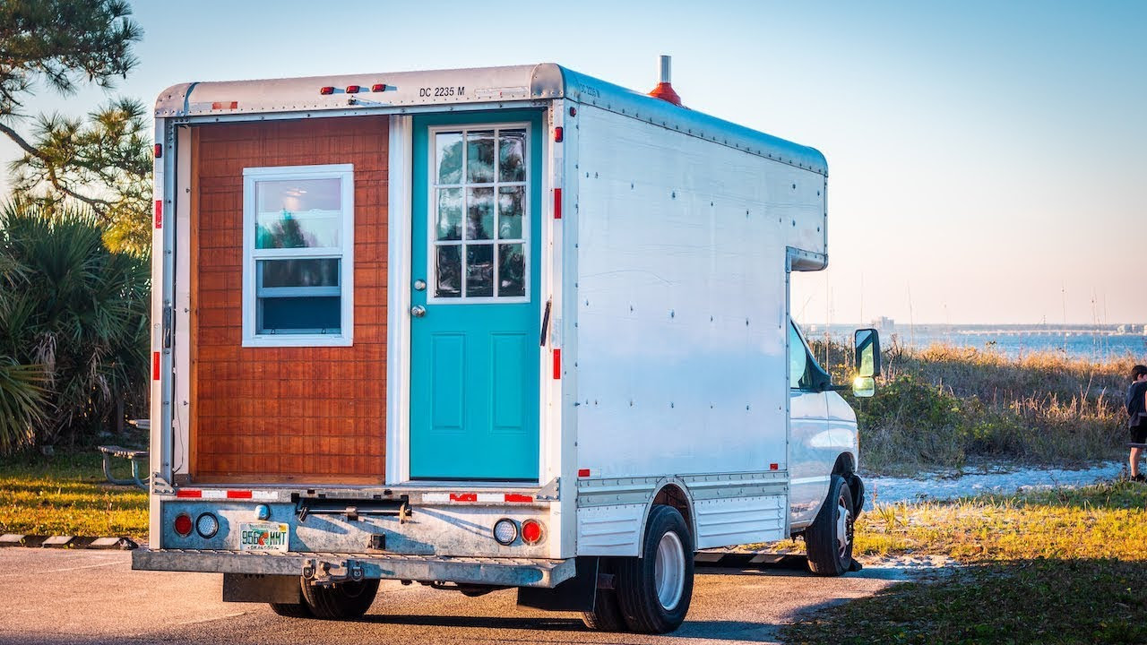 Image result for box truck tiny house