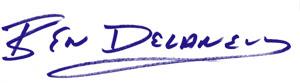 Ben Delaney's signature