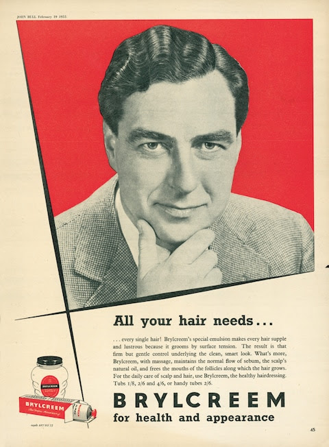 Arlott was the image chosen to sell hair tonic