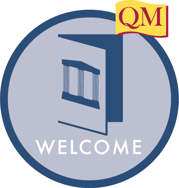 illustration of a door with the word welcome under it