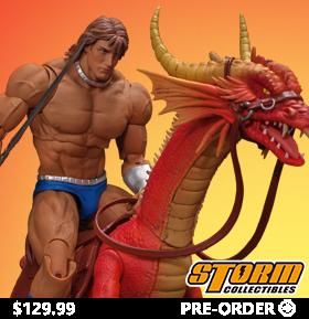 Golden Axe Ax Battler & Red Dragon 1/12 Scale Figure Set