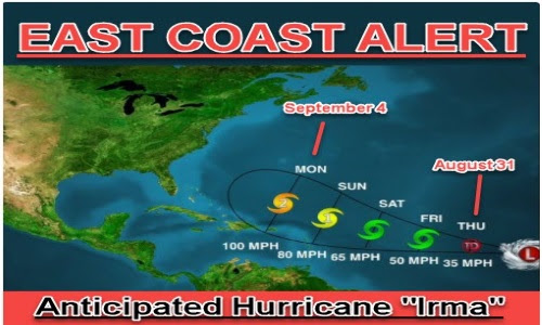 E Coast Alert: Powerful Hurricane Developing, Going to Hit Hard - Weather Expects