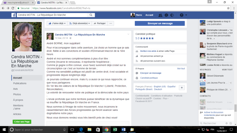 Cendra motin centre droit   facebook