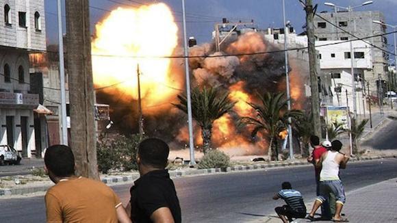 edificio de 12 plantas gaza misil israel