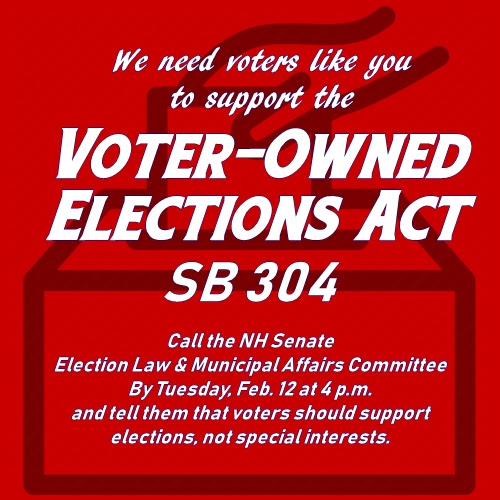 Appeal to support the Voter-Owned Elections Act