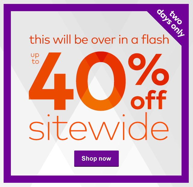 Flash sale up to 40% off sitewide for 2 days only at Vistaprint.
