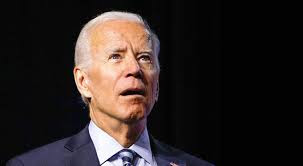 An image of Biden looking confused