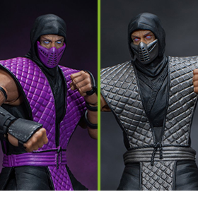 MORTAL KOMBAT RAIN & SMOKE 1/12 SCALE NYCC EXCLUSIVE FIGURES