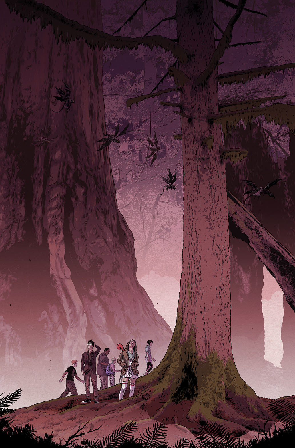 THE WOODS #1 Cover B by Matthew Woodson