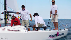 J/70 Reach Around sailing Chicago Verve Cup