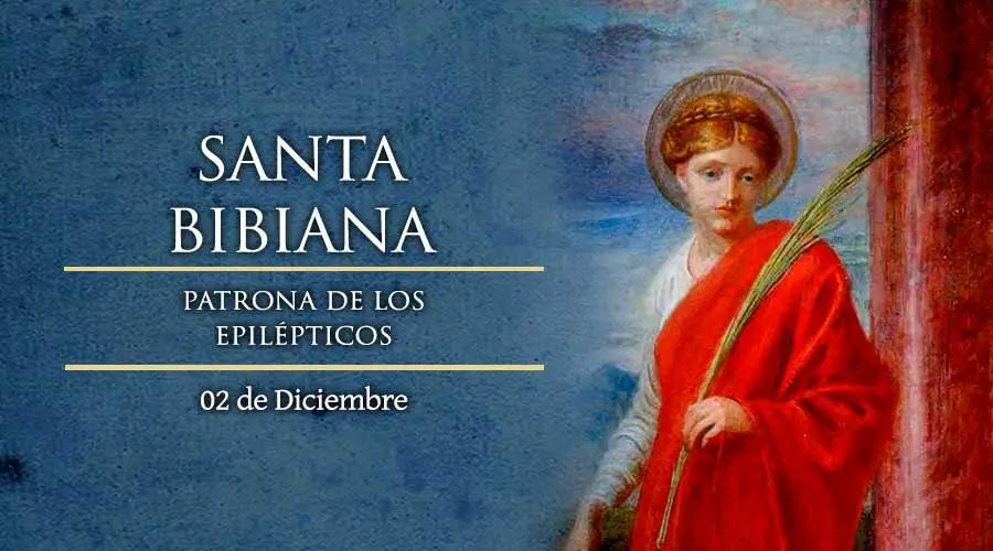 Santa Bibiana de Roma - 2 de diciembre 2