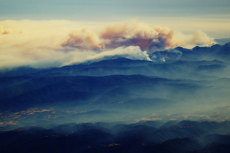 forest fire from an airplane big sur california 27 Reasons You Should ALWAYS Ask for a Window Seat