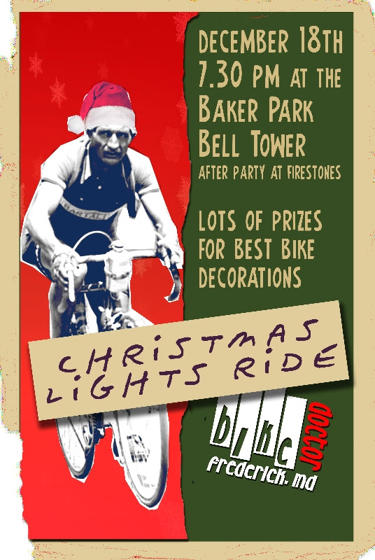 Bike Doctor Frederick's 4th Annual X-mas Lights Ride