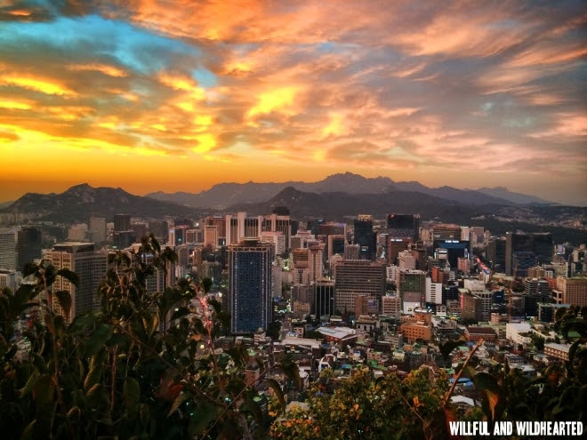 Sunset view at Namsan Tower.