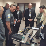 Law enforcement officials meet with smart gun manufacturers in New Rochelle.