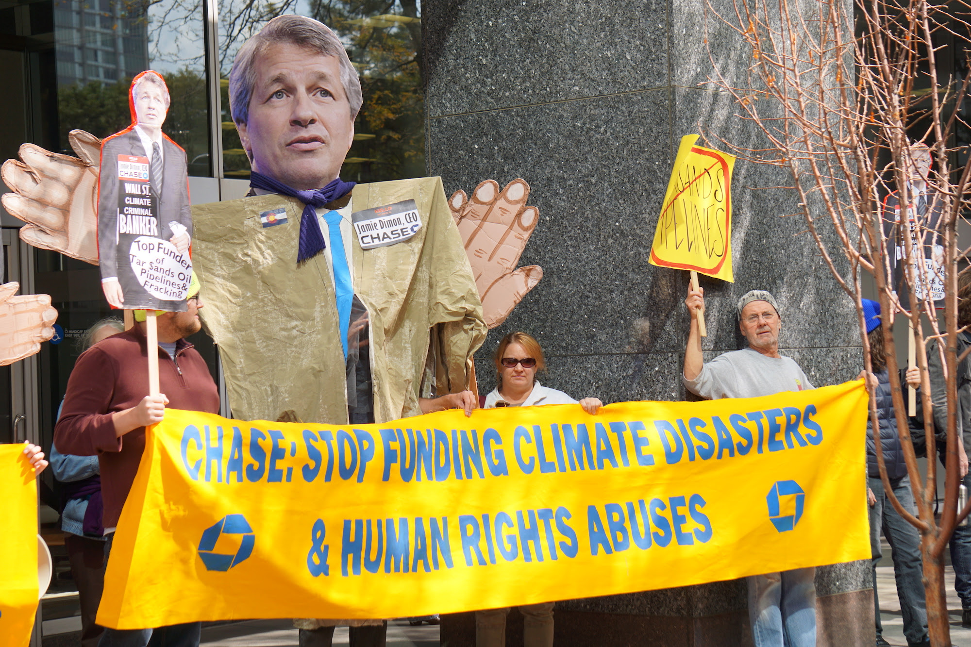 People Protest KXL at Chase