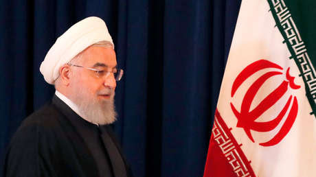 El presidente de Irán, Hassan Rouhani, durante una rueda de prensa, Nueva York, EE.UU., 26 de septiembre de 2018.