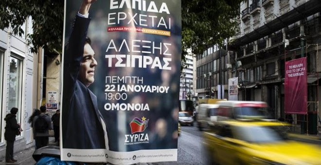 Un cartel de Syriza en Atenas. /REUTERS