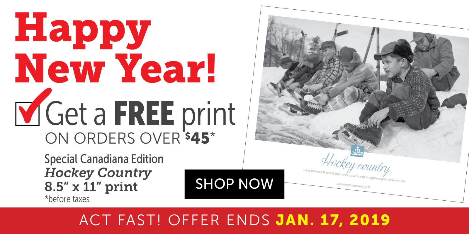 Happy New Year! Get a FREE Print on orders over $45!