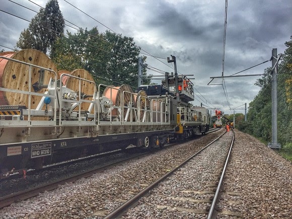 Gospel Oak to Barking wiring Crouch Hill to Harringay Green Lanes - copyright Network Rail