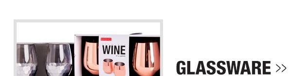 Glassware starting at $4.99