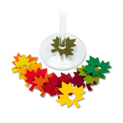 Maple Leaf winecharms