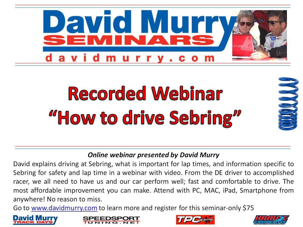 DMS Drive Sebring flyers recording